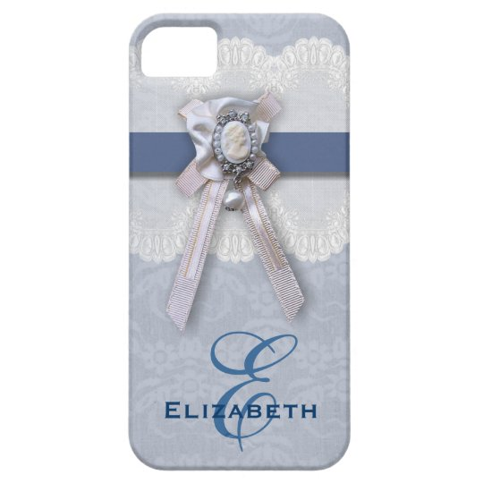 Victorian Lace Blue Cameo iPhone 5 Case