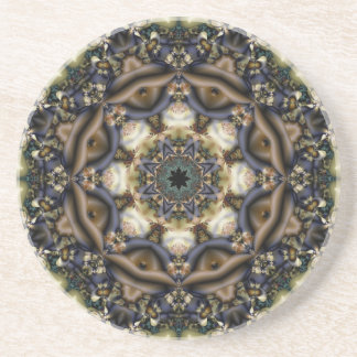 Victorian Lace Fractal Coaster