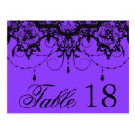 Victorian Lace Purple Table Number PostCard