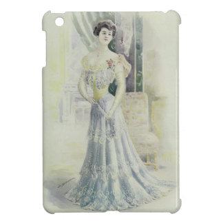 Victorian Lad –Vintage French Fashion – Aqua Dress iPad Mini Case