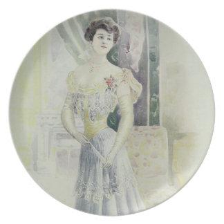 Victorian Lad –Vintage French Fashion – Aqua Dress Plates