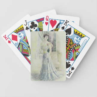 Victorian Lad –Vintage French Fashion – Aqua Dress Bicycle Playing Cards