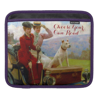 Victorian Lades & Dog Out for a Drive Sleeve For iPads