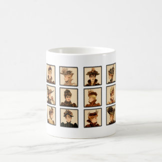Victorian Ladies' Fashion Coffee Mugs