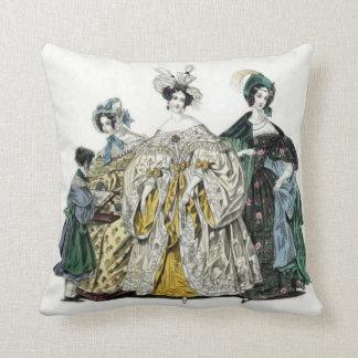 Victorian Ladies Fashion Throw Pillow