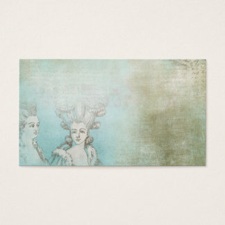 Victorian Ladies Hair Style Collage Business Card