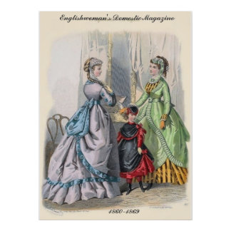 Victorian Ladies Illistrated Poster Print
