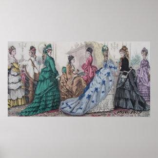 Victorian Ladies Ilustration Poster Print