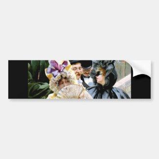 Victorian Ladies Men Mask Party painting Bumper Sticker