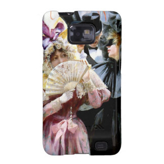 Victorian Ladies Men Mask Party painting Samsung Galaxy SII Covers