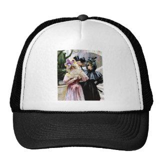 Victorian Ladies Men Mask Party painting Trucker Hat