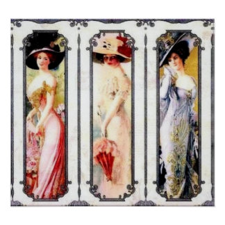 Victorian Ladies Poster