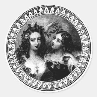 victorian ladies stickers