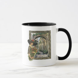 Victorian lady abroad mug