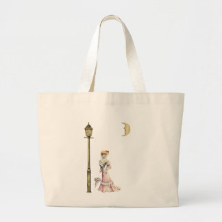 Victorian Lady and Lamp Canvas Bags