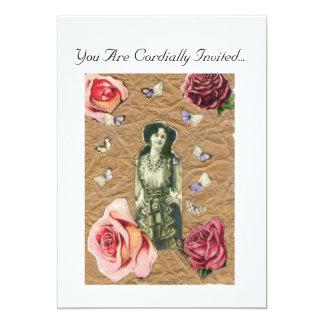 "Victorian Lady and the Rose Invitation 5"" X 7"" Invitation Card"