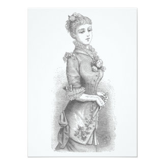 Victorian Lady Card
