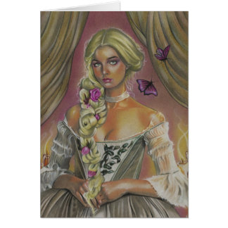 Victorian Lady Claudette Fantasy Art Greeting Card