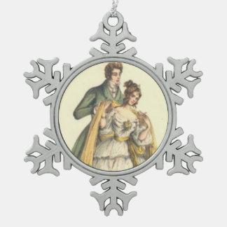 Victorian Lady / Couple Vintage Christmas Ornament