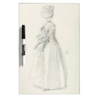 Victorian Lady Fashion Dry Erase Board