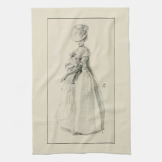 Victorian Lady Fashion Hand Towel