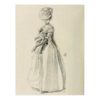 Victorian Lady Fashion Post Card