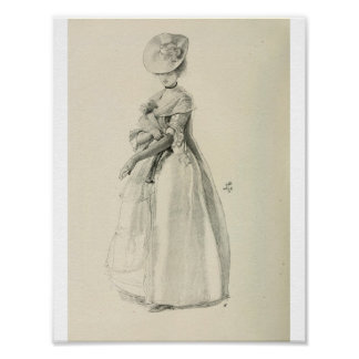 Victorian Lady Fashion Poster