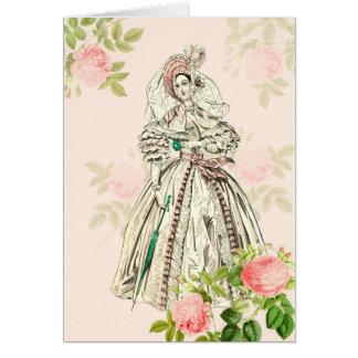 Victorian lady greeting card 19th century fashion