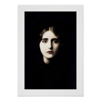 victorian lady haunting, stare, stark poster