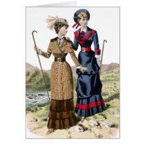 Victorian Lady Hikers Card