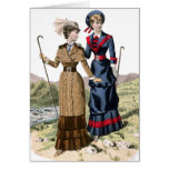 Victorian Lady Hikers Greeting Card
