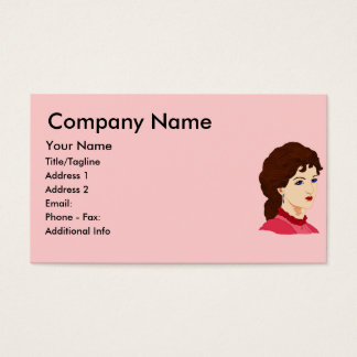 Victorian Lady in Burgundy Business Card