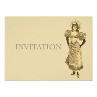 Victorian Lady in Dress - Victorian Birthday Card