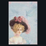 """Victorian Lady in Feathered Hat Tissue Paper<br><div class=""""desc"""">Use this tissue paper with coordinating gift bag or mix and match with complementary colors.</div>"""
