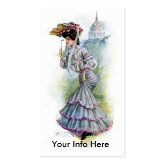 Victorian Lady in Lavender Dress Business Card
