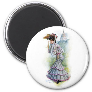 Victorian Lady in Lavender Dress Magnets