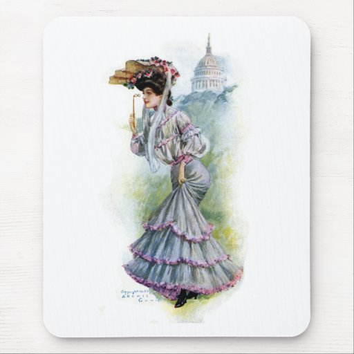 Victorian Lady in Lavender Dress Mouse Pad