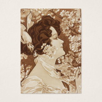 Victorian Lady in Springtime Business Card