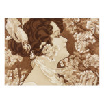 Victorian Lady in Springtime Large Business Cards (Pack Of 100)