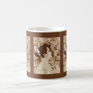Victorian Lady in Springtime Coffee Mugs