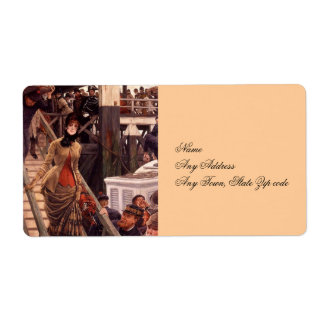 Victorian Lady Leave the Ship Shipping Labels