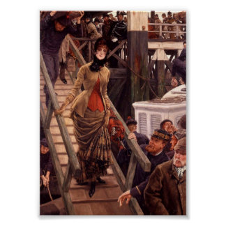 Victorian Lady Leave the Ship Posters