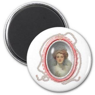 Victorian Lady 2 Inch Round Magnet