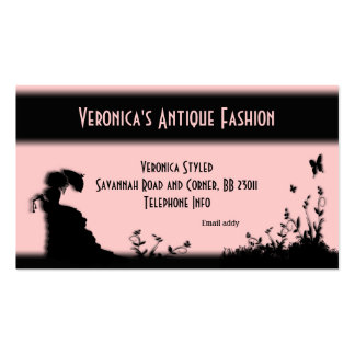 Victorian Lady Pink Business Card