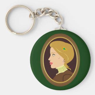 Victorian Lady Portrait Keychain