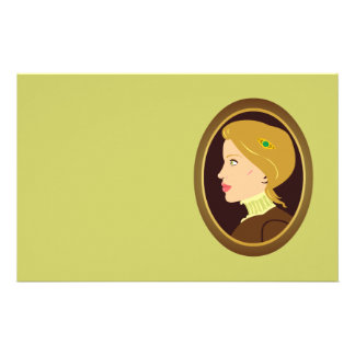 Victorian Lady Portrait Stationery
