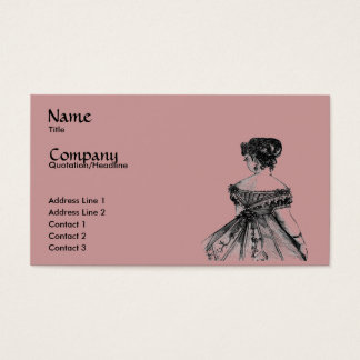 Victorian Lady Profile/Business Card