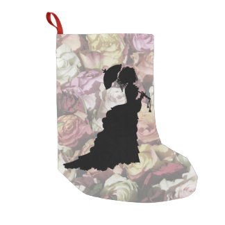 Victorian Lady Small Christmas Stocking