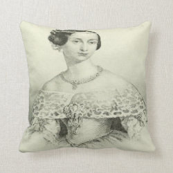 Victorian Lady Throw Pillow