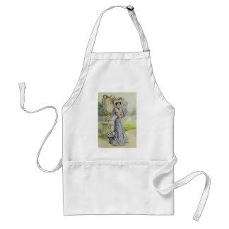 Victorian Lady–Vintage French Fashion – Aqua Dress Adult Apron